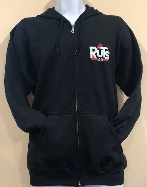 Image of Ruts black '40' Zip Hoodie