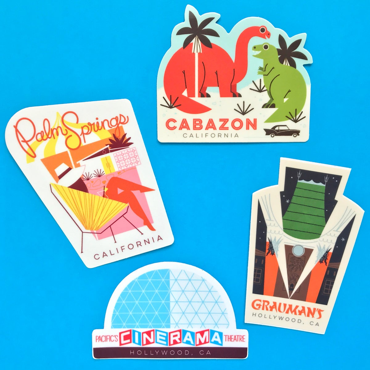 Image of California Travel Stickers