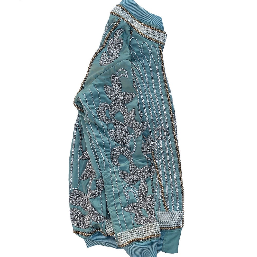 Image of Turquoise Beaded Souvenir Jacket