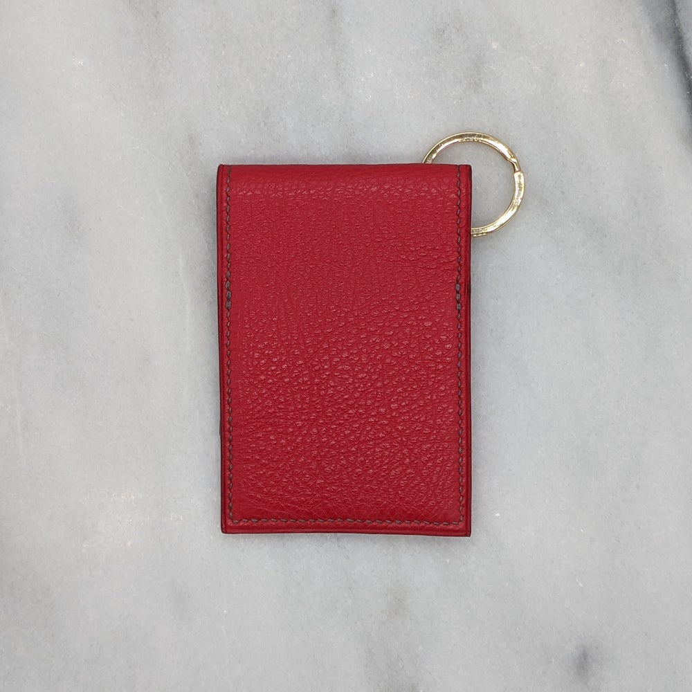 Image of ENTRY CARD Holder Key Ring – Red