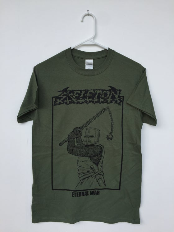 Image of Army Green Skeleton T-Shirt