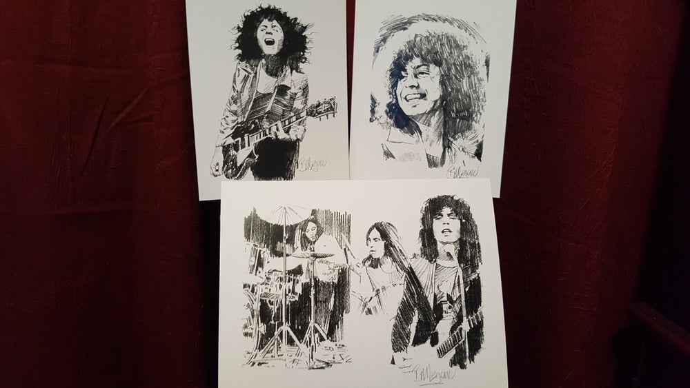 Image of Trio of prints/all personally signed by Bill