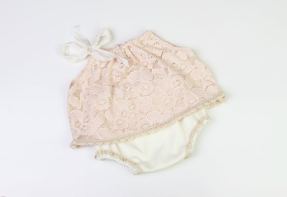 Image of Blush & Cream Newborn Top & Pant Set
