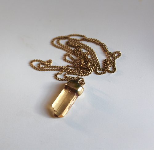 Image of Juicy Imperial Topaz. Gold Drip in 9ct