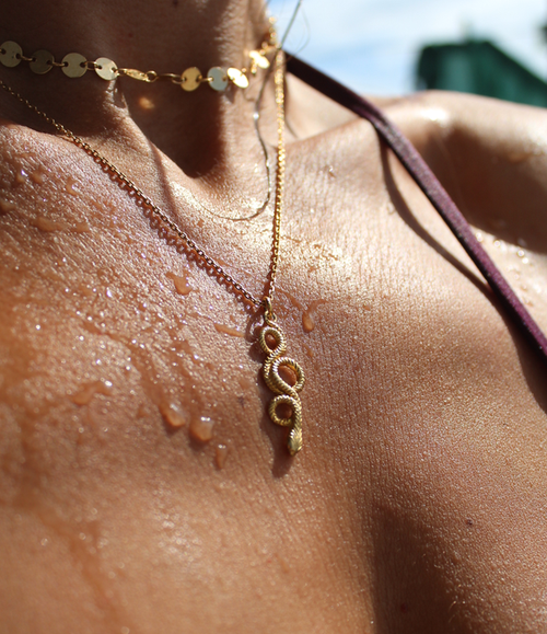 Image of Infinity Serpent necklace.