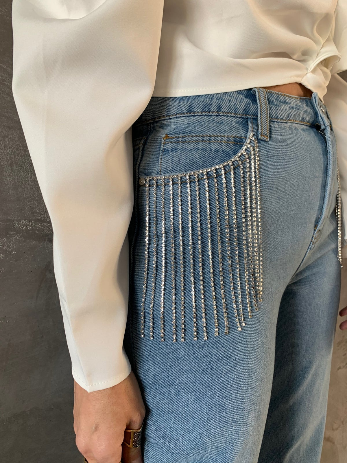 Image of JEANS CON STRASS