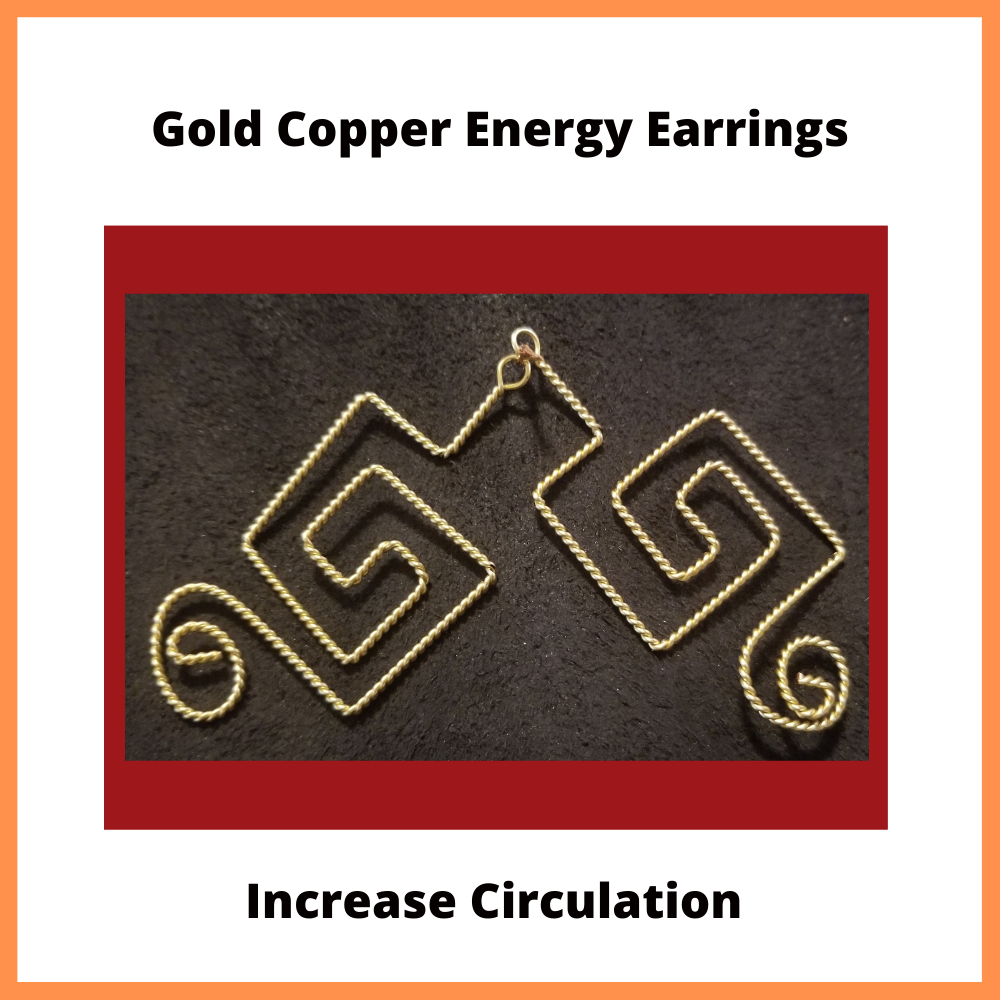 Gold Copper Energy Activated Earrings