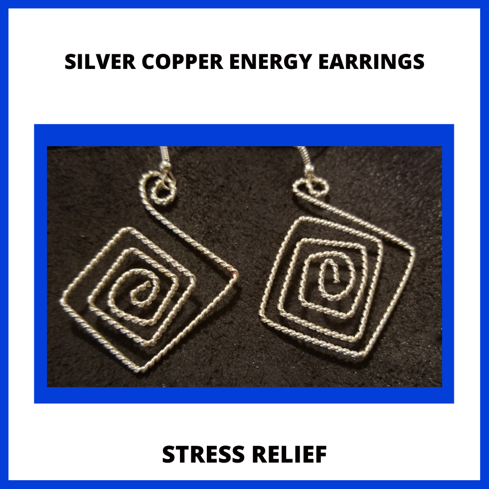 Image of Silver Copper Energy Activation Earrings