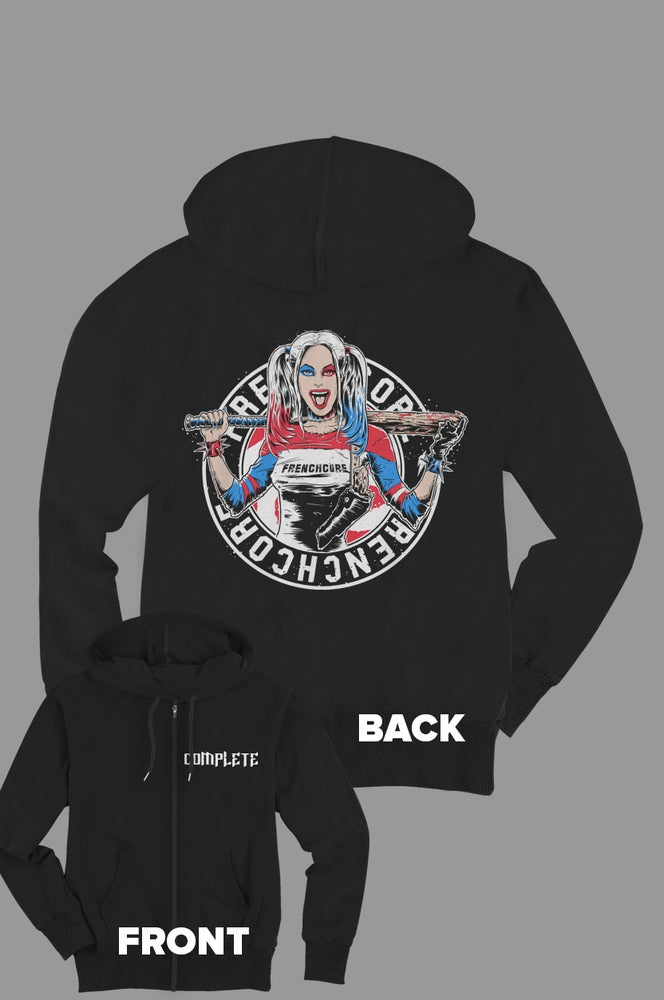 Image of Frenchcore Harley Quinn      Zip Hoodie