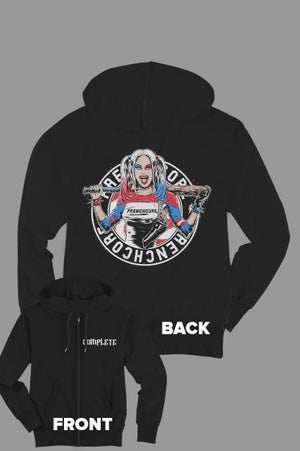 Image of Complete Frenchcore Harley Quinn Zip Hoodie
