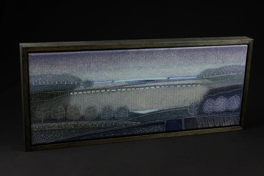 Image of ROB VAN HOEK - ORIGINAL OIL PAINTING - 'PURPLE RAIN'