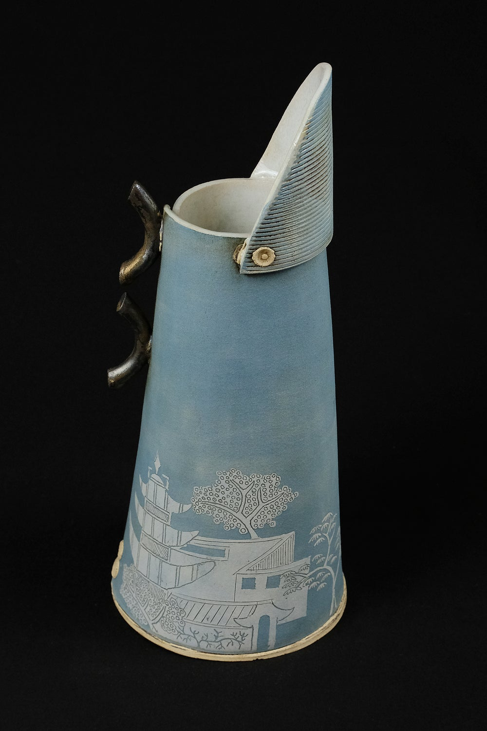 Image of SARAH DUNSTON TALL BLUE JUG