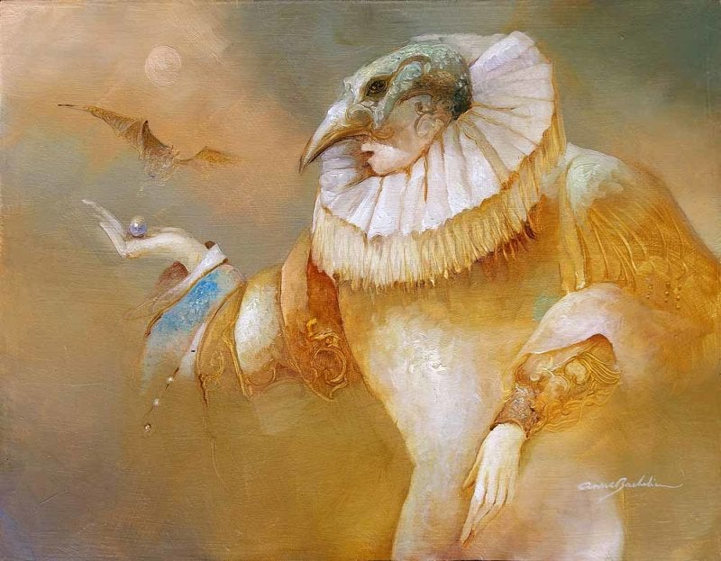 Image of ANNE BACHELIER ORIGINAL OIL PAINTING - 'PAPAGENO'