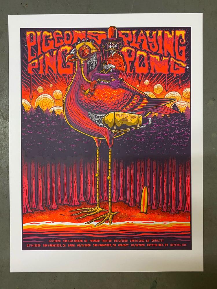 Image of Pigeons Playing Ping Pong - California & Nevada 2/12/2020 - 2/16/2020 - Regular Edition