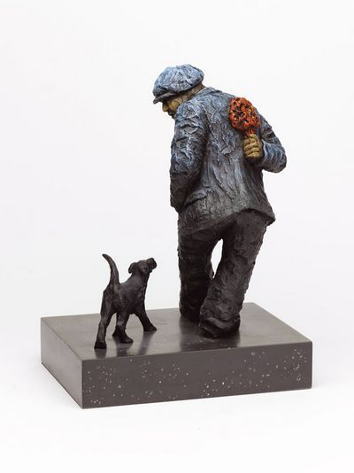Image of ALEXANDER MILLER 'SURPRISE, SURPRISE' - MAN AND DOG LTD ED. SCULPTURE