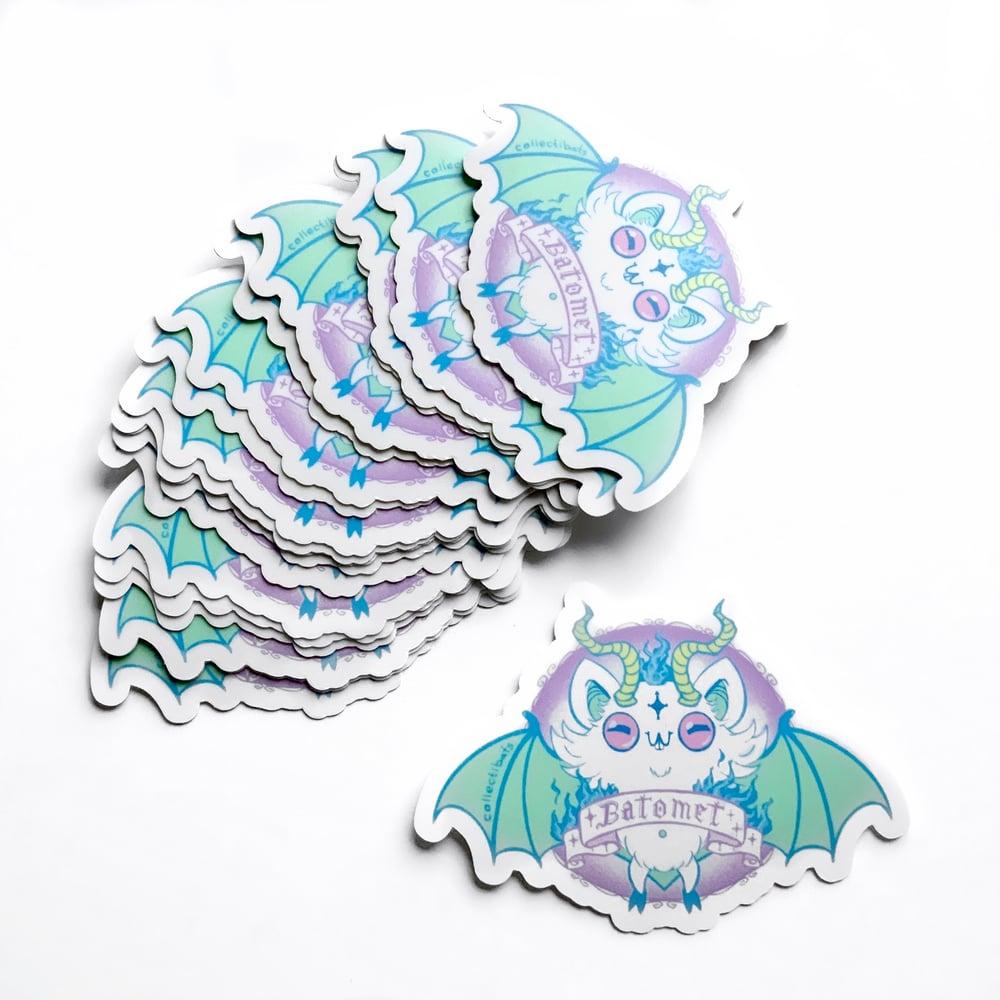 Batomet Sticker - Batty Baphomet