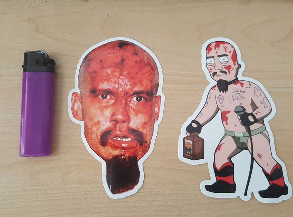 Image of GG ALLIN 2 PIECE STICKER SET