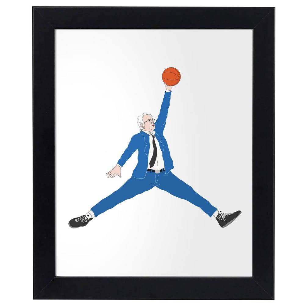 Image of Bernie Jumpman Print