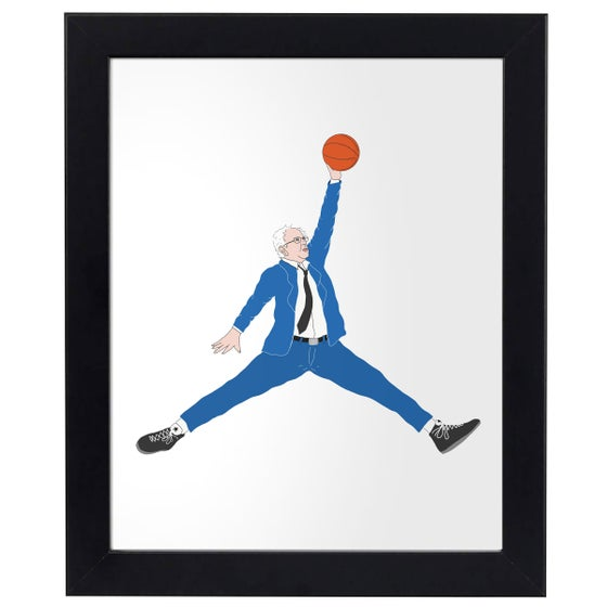 Image of Bernie Jumpman Print