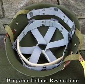 Image of Replica Saint Clair M2 Paratrooper Helmet Liner. Rayon Webbing. Airborne