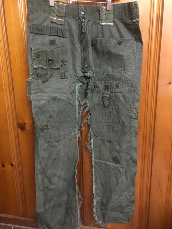 Image of Upcycled Army Pants with Knee Patch