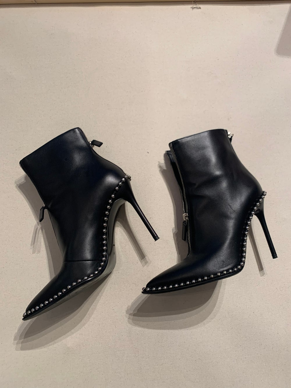 Image of ALEXANDER WANG STUDDED LEATHER BOOT