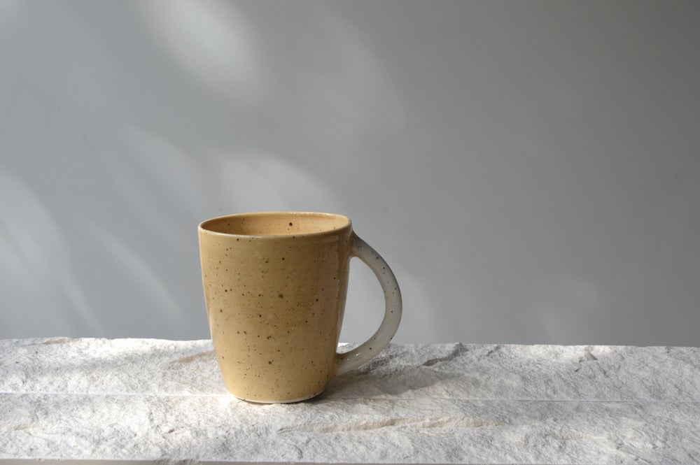 Image of Ochre Stoneware Mugs