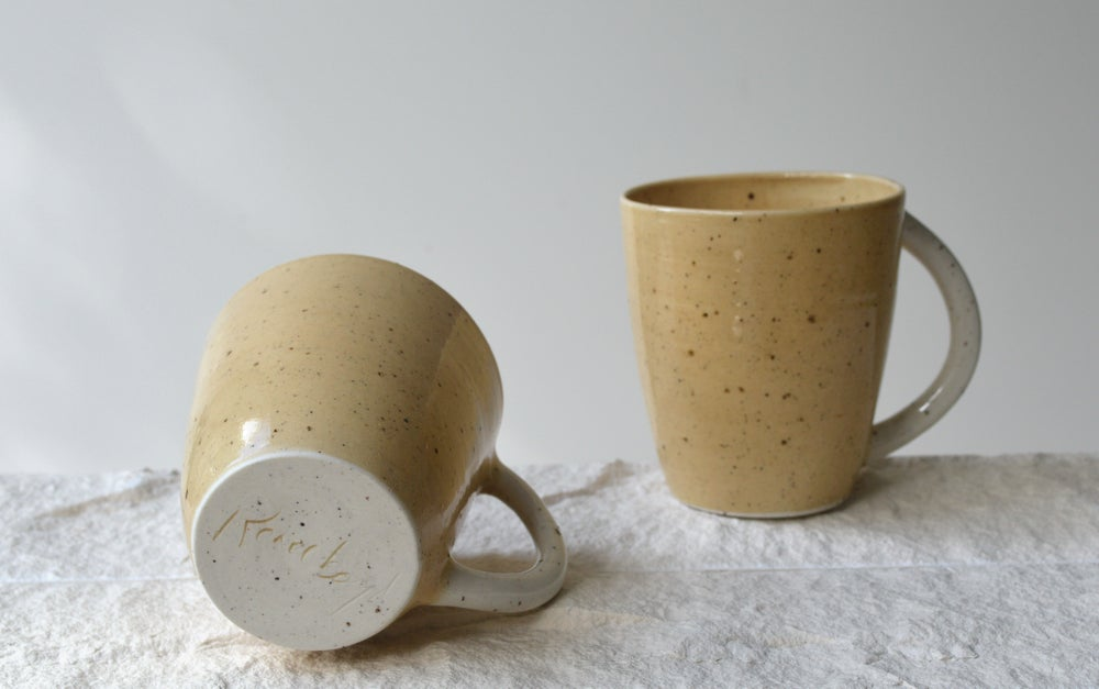 Image of Ochre Stoneware Mugs - In Stock