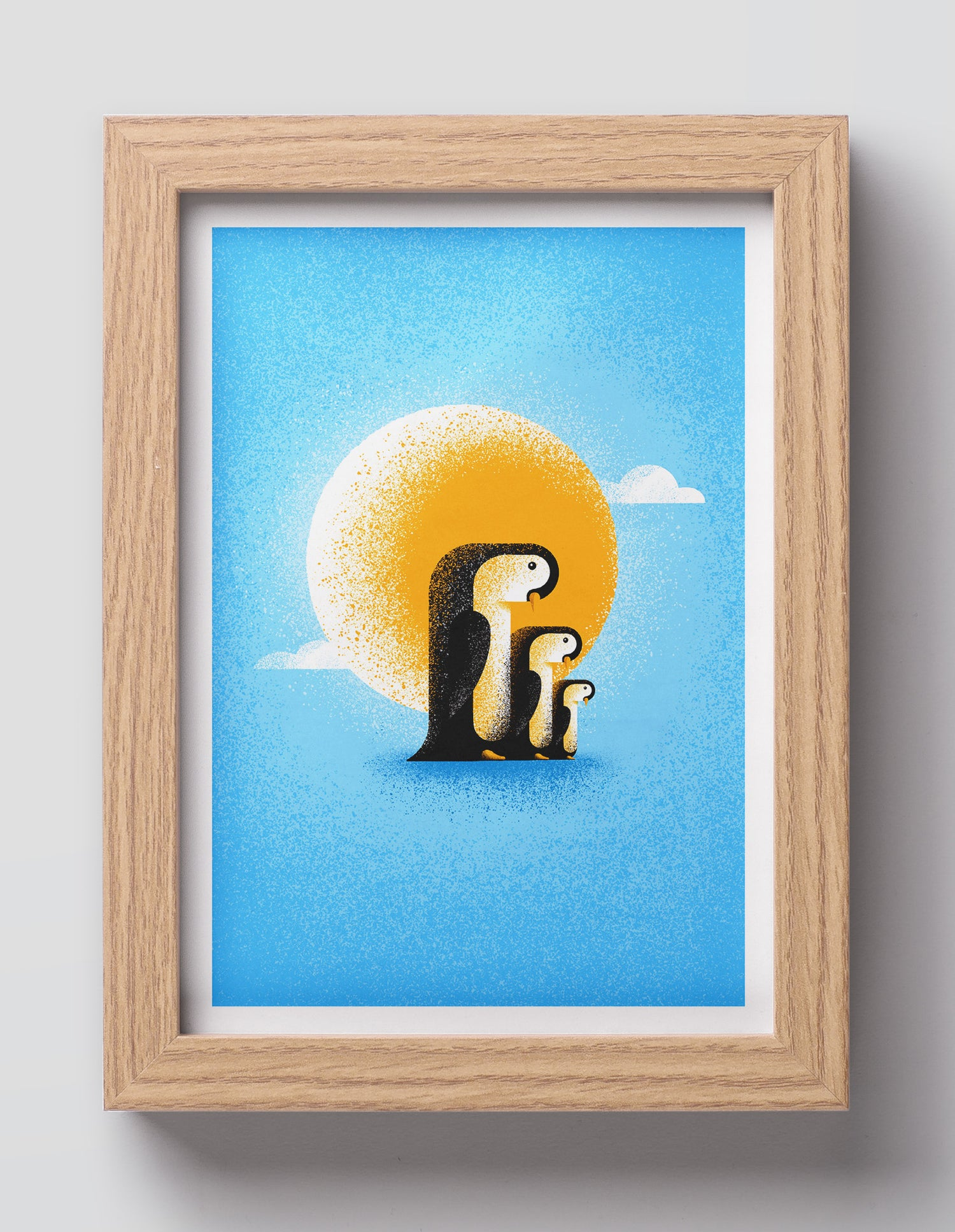 Image of PENGUINS IN THE SUN 15×21