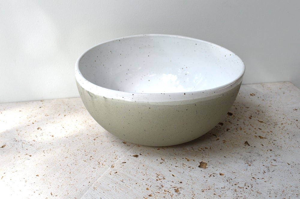 Image of Large Roundy Oval Organic Shaped Bowl - In stock