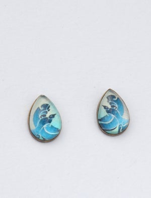 Image of Spirited Women's brass earrings - studs or drops