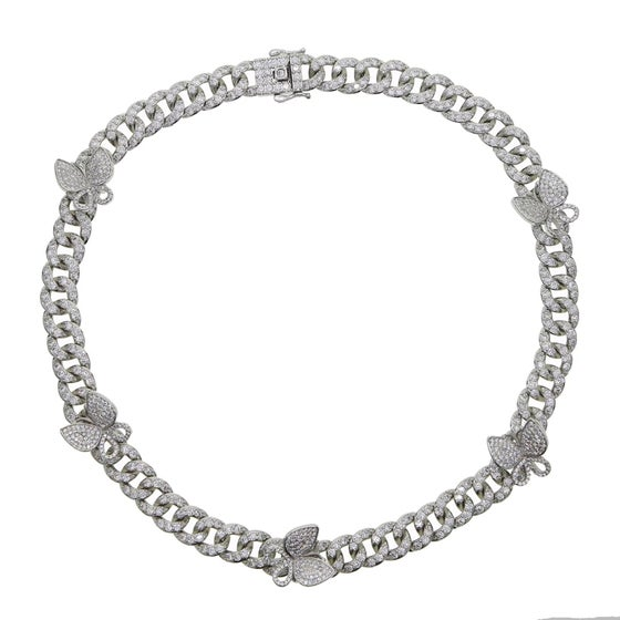 Image of  Butterfly charm choker