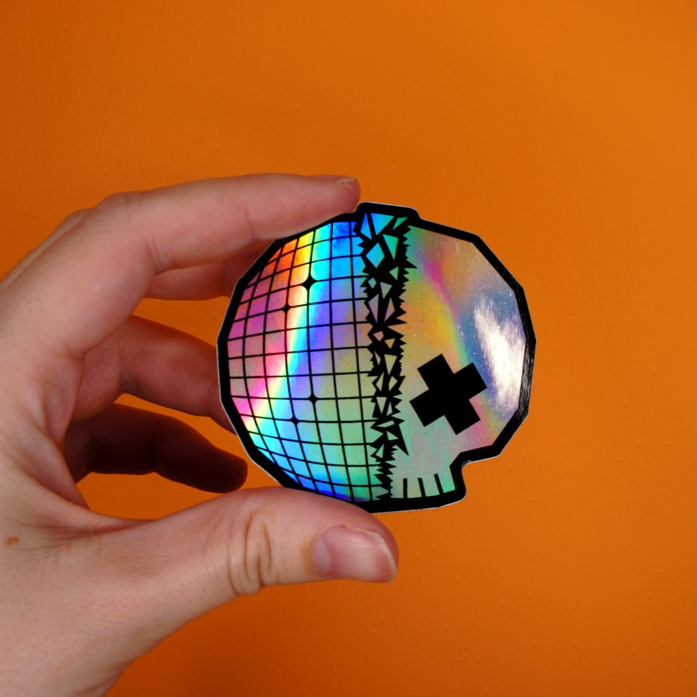 Image of Skull Disco Sticker