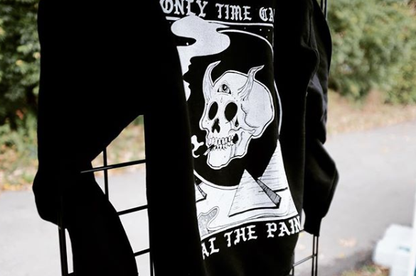 Image of Only Time Can Heal The Pain (black)