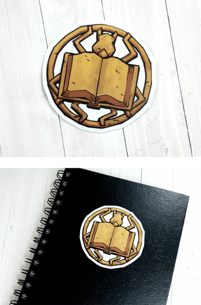 Image of The Book Crest Sticker
