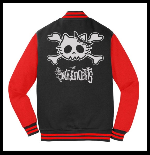 Image of The Independents  Kitty CrossbonesLetterman Jacket