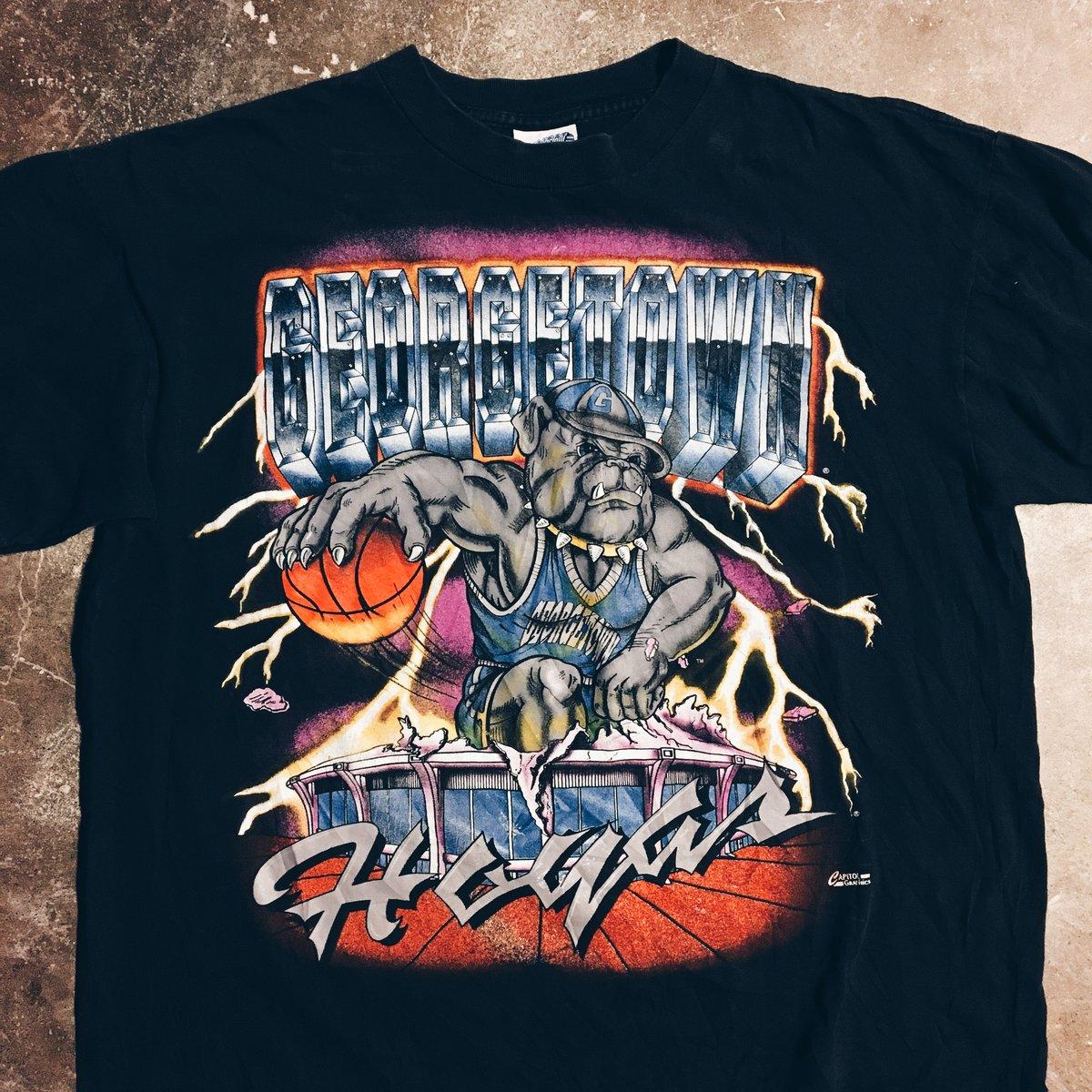 Image of Original 90's Georgetown Hoyas Big Print Tee.