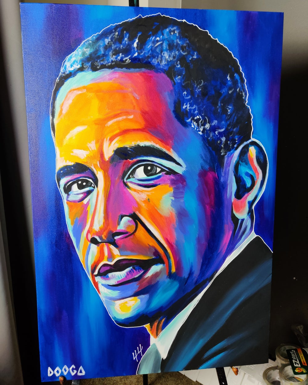 Image of Barack Obama - Canvas Print