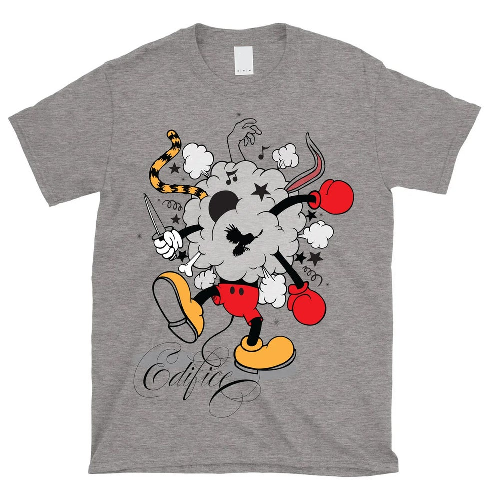 Image of EDIFICE CLOTHING BATTLE OF THE TOONS MEN'S 4 COLOR HAND PRINTED SHORT SLEEVE S-XXL