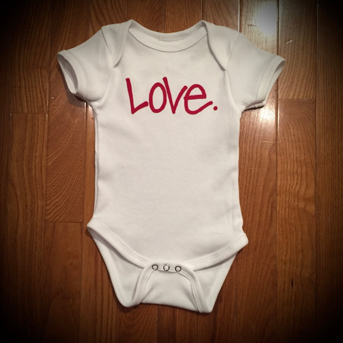 "Image of ""Love...period!"" Onesie"