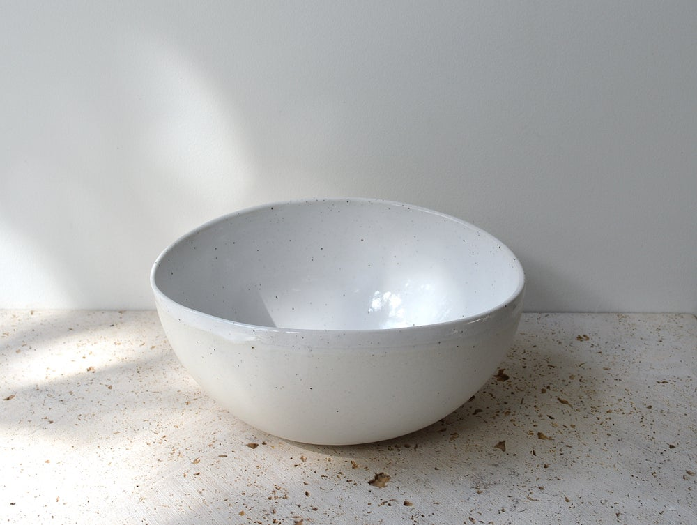 Image of Large Roundy Oval Organic Salad  Bowl - In Stock