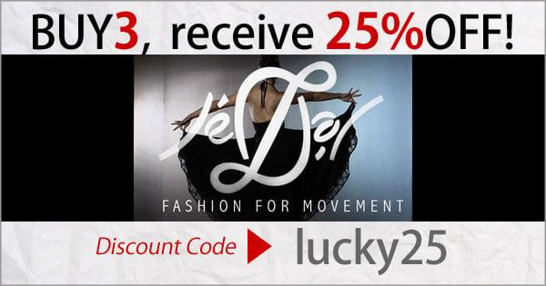 Dancewear, Discount code for 25percent