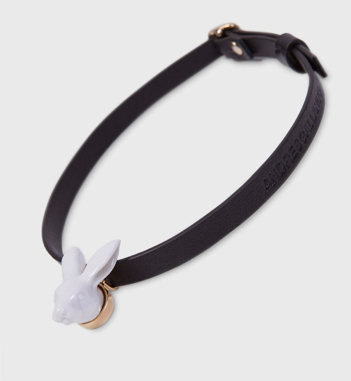 Image of Rabbit head Leather Choker