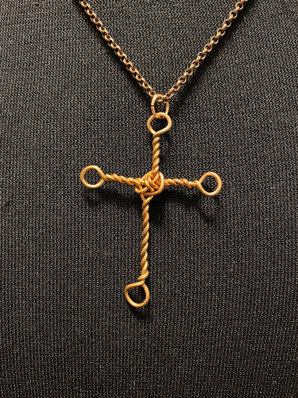 Copper Cross and Chain Necklace