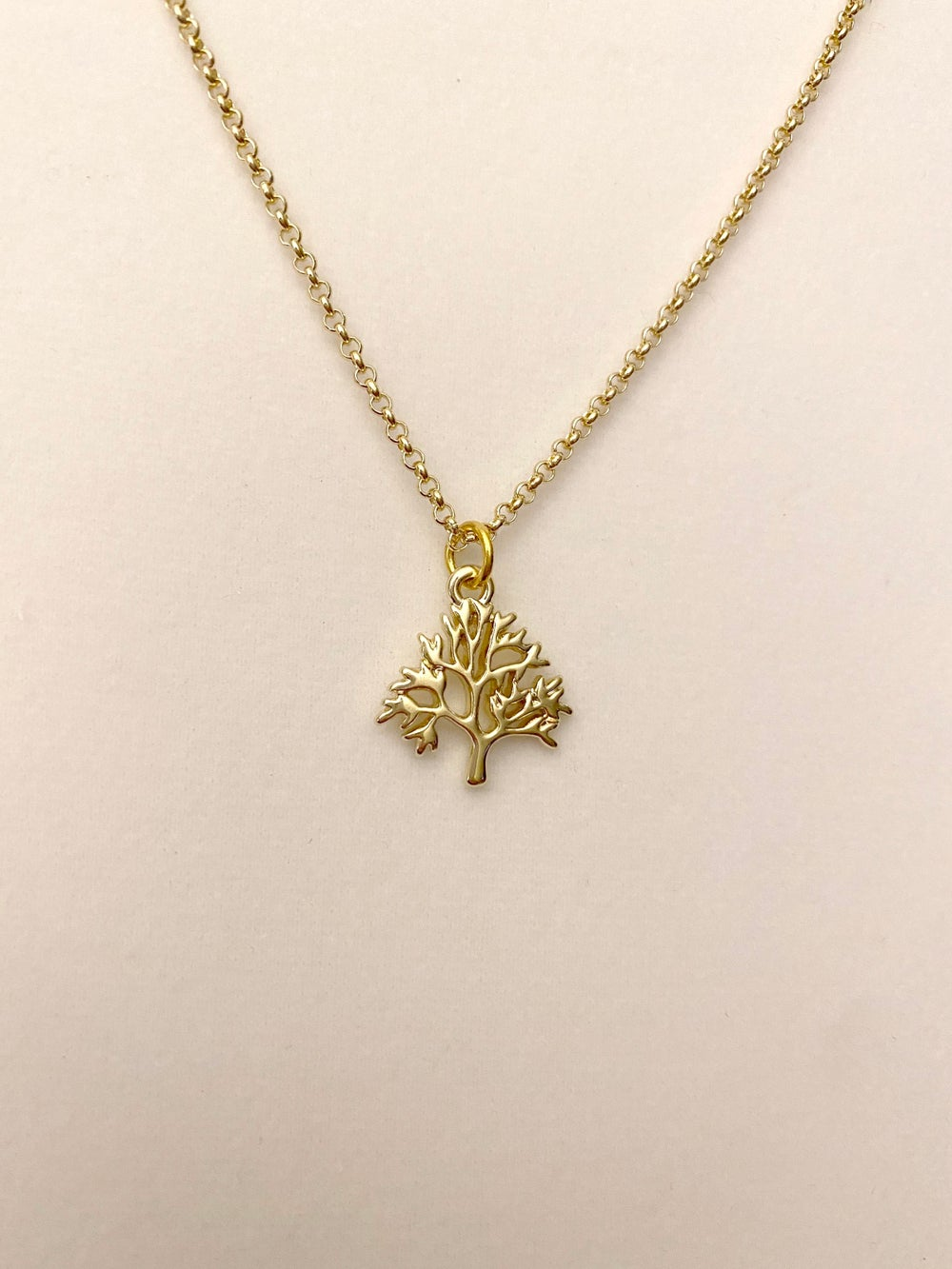 Gold Plated Tree of Life Pendant and Chain Necklace