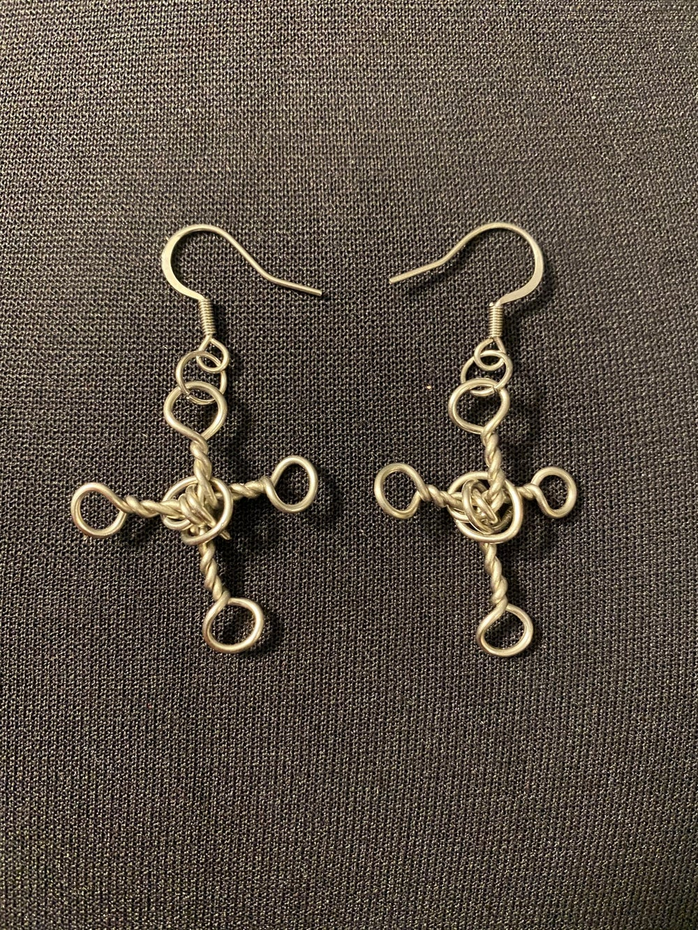Stainless Steel Cross Earrings