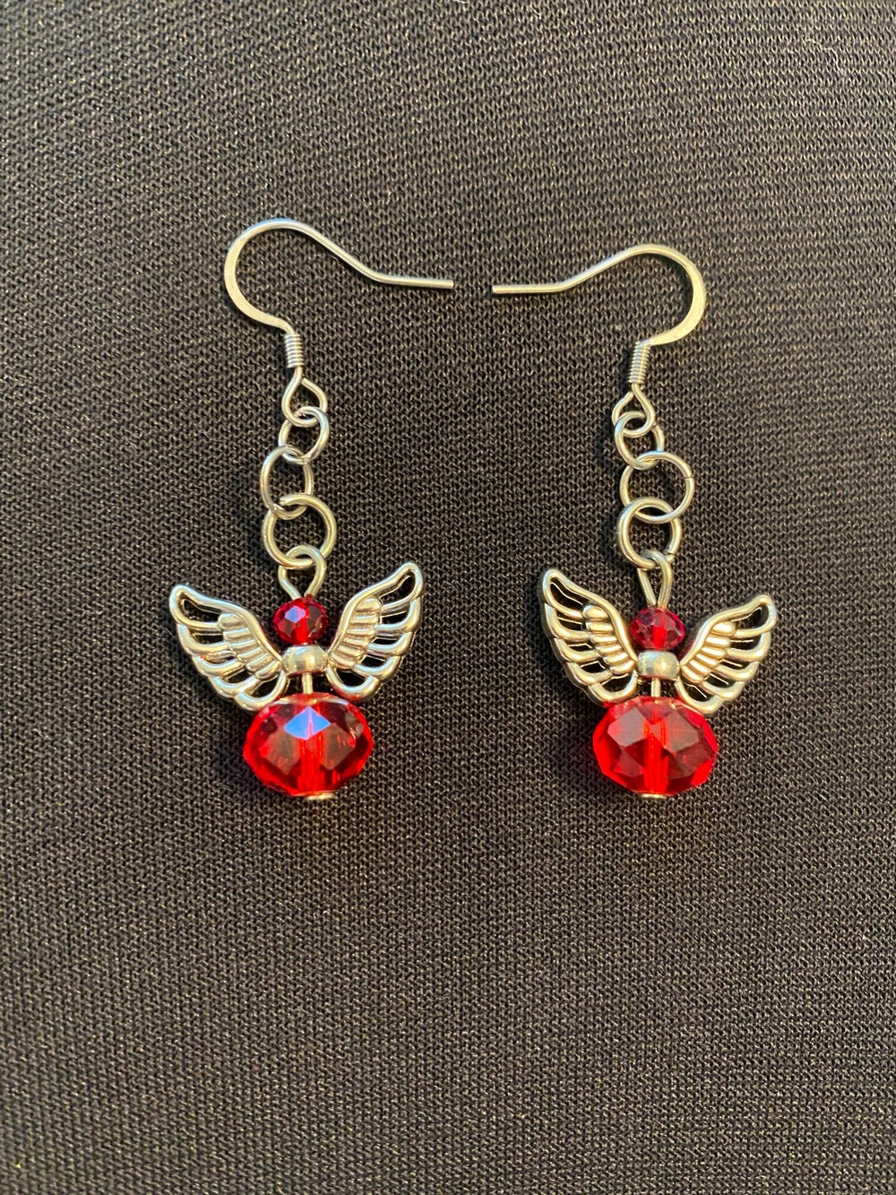 Angel Glass Birthstone Earrings