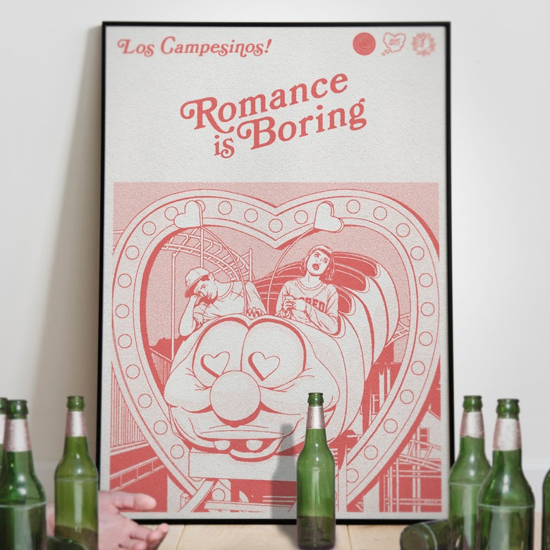 Image of 'Romance Is Boring' print RED