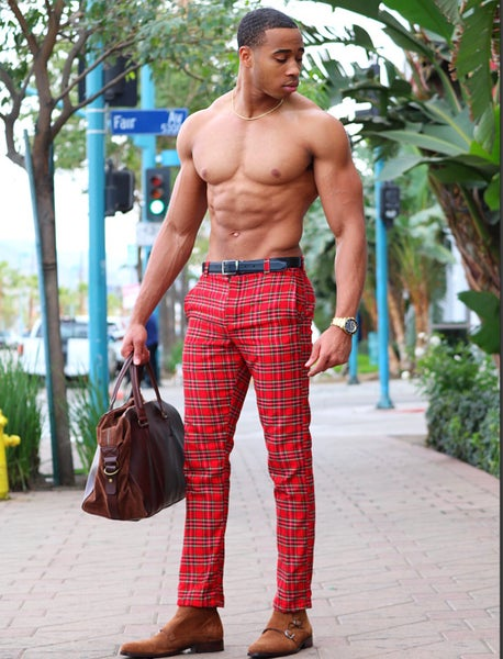 Image of The Oman Plaid pants