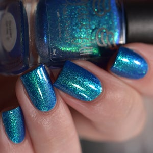 Image of Super Bros 2 -blue based and is packed with blue-green aurora shimmer